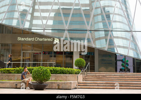 Standard Chartered bank in Central, Hong Kong - Stock Image