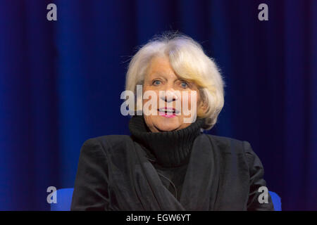 Walsall, West Midlands, UK. 2 March 2015. Singer songwriter Jackie Trent at the recording of the first 'The David - Stock Image