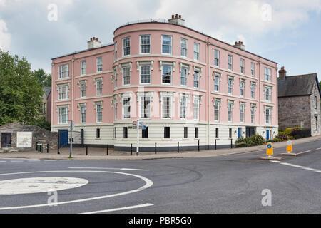 Bridge Terrace, a residential apartment block in Totnes, Devon, UK - Stock Image