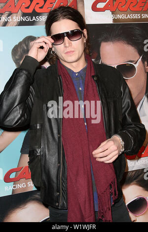 New York, USA. 13 March, 2009. Musician, Jamie Burke at the launch of Carrera Vintage Sunglasses at Angel Orensanz Foundation. Credit: Steve Mack/Alamy - Stock Image