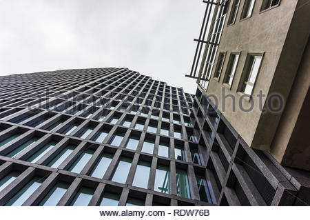 Poznan, Poland - November 16, 2018: High modern Baltyk office building on the Roosevelta street in the city center. - Stock Image