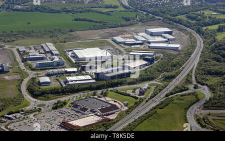 aerial view of the Advanced Manufacturing Park, AMP, at Catcliffe, Sheffield, UK - Stock Image
