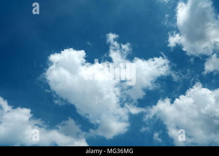 Blue Sky with Cloud Background. - Stock Image
