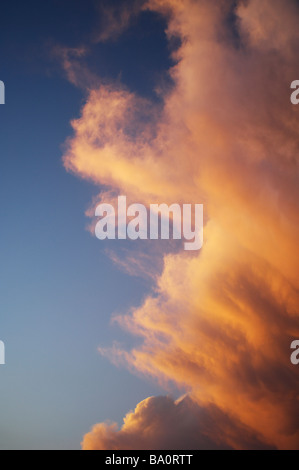 Sunset storm clouds - Stock Image