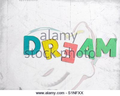 dream (word) - Stock Image