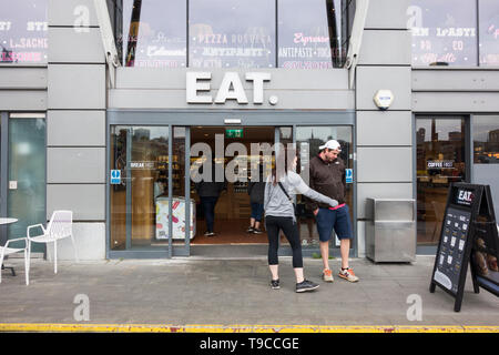 Exterior and frontage of EAT restaurant chain - Stock Image