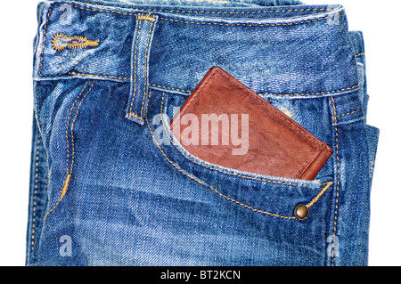 Jeans Pocket And Wallet - Stock Image