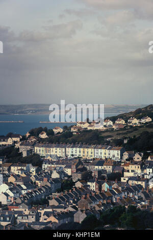 a typical English working class town with terraced houses - Stock Image