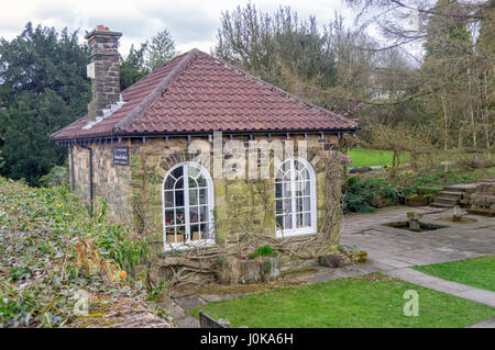 Stone Outhouse, Wentworth Garden Centre, Rotherham, Still Life - Stock Image