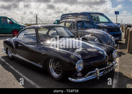 Black 1959 VW Volkswagen Karmann Ghia - Stock Image