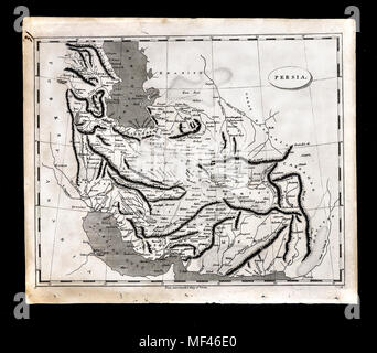 1804 Arrowsmith Map - Persia Iran Afghanistan Iraq Middle East - Stock Image
