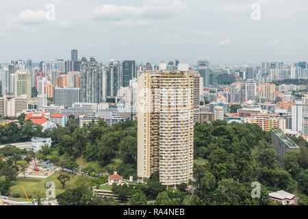 Pearl Bank Apartments, Singapore - Stock Image