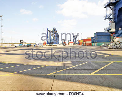 Port of Felixstowe in England - Stock Image