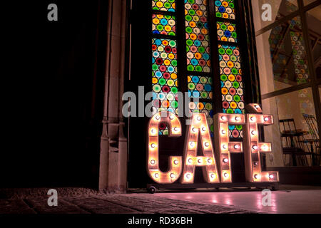 Cafe sign - Stock Image