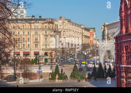 National hotel, Tverskaya street, Moscow, Russia - Stock Image