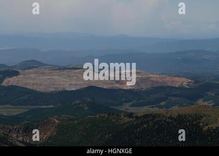 Strip mine near pikes peak Colorado - Stock Image