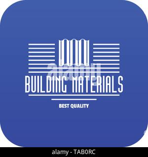 Best quality icon blue vector - Stock Image