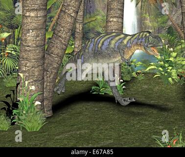 Dinosaurier Aucasaurus / dinosaur Aucasaurus - Stock Image