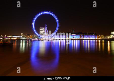 London Eye Reflections - Stock Image