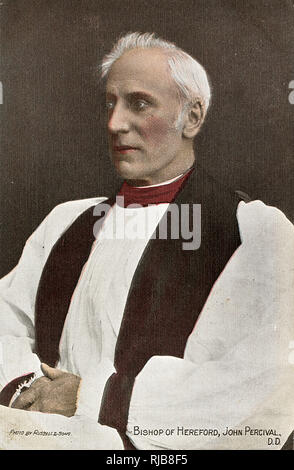 John Percival (1834-1918), Bishop of Hereford (1895-1917), formerly first headmaster of Clifton College and headmaster of Rugby School. - Stock Image