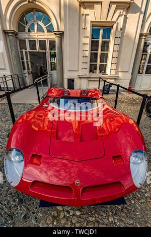 Piedmont Turin - Turin auto show 2019  - Valentino park - Valentino castle -  Pizzarini P538 LmborghiniV12 - Stock Image