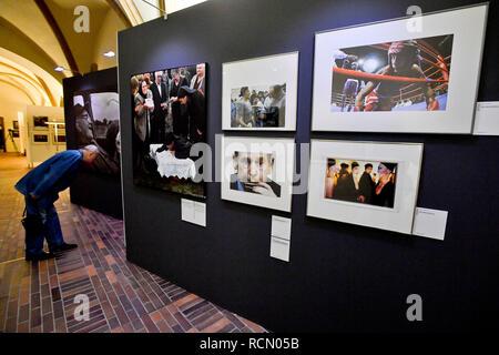 Prague, Czech Republic. 15th Jan, 2019. Opening of exhibition The Best of Czech Press Photo, marking 25 years of the photographic competition, in Prague, Czech Republic, on January 15, 2019. Credit: Vit Simanek/CTK Photo/Alamy Live News - Stock Image