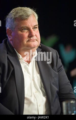 Mark Price British businessman & Minister of State for Trade & Investment speaking on stage at Hay Festival - Stock Image