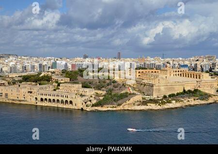 Fort Manoel on Manoel Island in Malta. Set in Marsamxett Harbour, the island was formerly a quarantine hospital. - Stock Image
