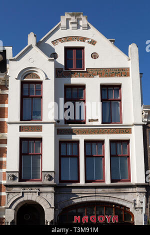 An Art Nouveau-influenced building in Haarlem, the Netherlands. - Stock Image