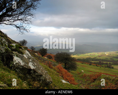 Hiking Brecon Beacons national park mid Wales Great Britain - Stock Image