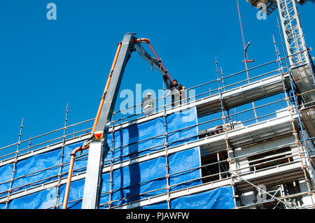 Gosford, New South Wales, Australia - July 7. 2018: Construction and building progress update 103  on new home units building site at 47 Beane St. - Stock Image