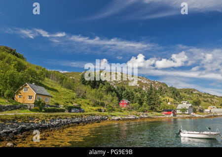 View of Oldeide, Norway. - Stock Image