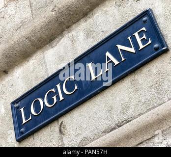 Logic Lane, Oxford, Oxfordshire, South East England, Uk - Stock Image