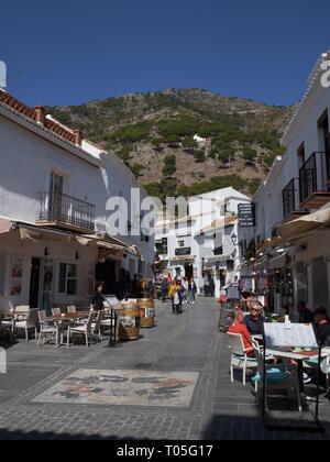 Los Caños Street. Mijas, Málaga, Spain. - Stock Image