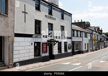 Pickwick's Antiques building, Llanrwst, Clwyd, Wales - Stock Image