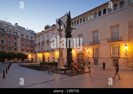 Seat of Government at Plaza de Manises in old city center of Valencia, Spain - Stock Image