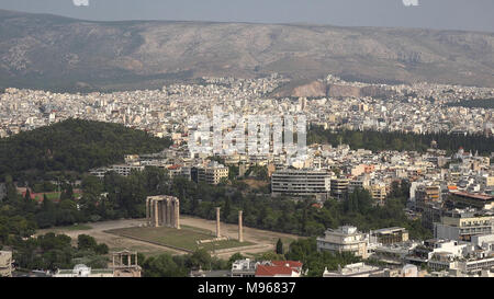 Densely populated urban district in Serres city, Greece - Stock Image