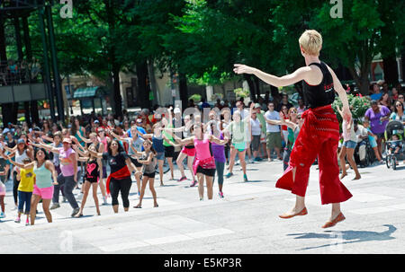 National Dance day event in Charlotte, North Carolina. - Stock Image