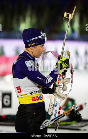 Juliya Dzhyma (UKR). JOKA Biathlon World Team Challenge 2018 auf Schalke. - Stock Image