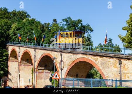 'Nerobergbahn' in Wiesbaden, Germany. 21st June 2018. - Stock Image