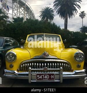 American vintage Buick car in St. Kilda Melbourne - Stock Image