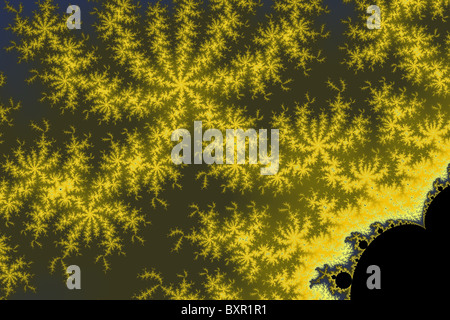 Small Mandelbrot portion magnified a million times - Stock Image