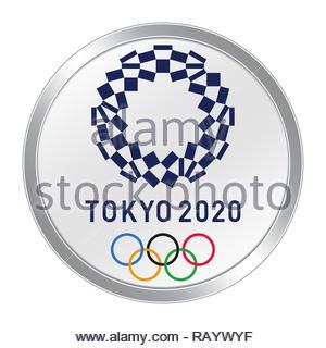 Tokyo 2020 logo Olympics - Stock Image