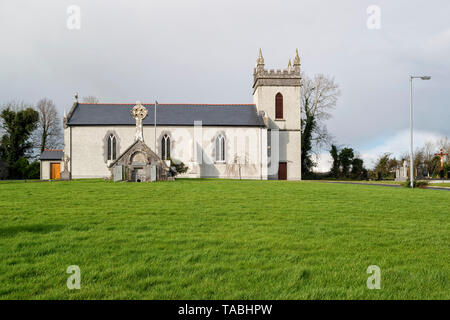 Rural church and mausoleum in County Galway,Ireland. - Stock Image