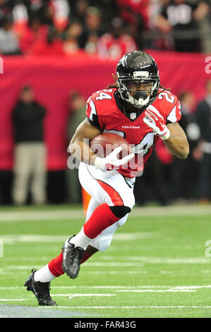 Atlanta Georgia. 3rd Jan, 2016. Atlanta Falcons RB Freeman, Devonta (#24) in action during NFL game between New - Stock Image