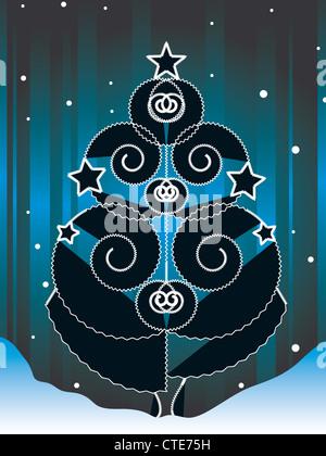 decorative christmas tree - Stock Image