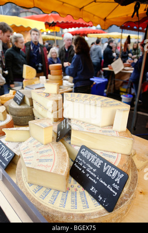Continental cheese stall. Borough Market. London. UK - Stock Image