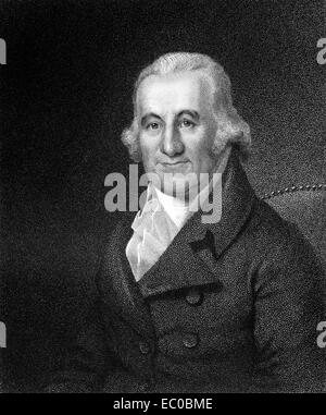 Caspar Wistar (1761-1818) on engraving from 1835.  American physician and anatomist. - Stock Image