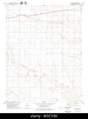 USGS TOPO Map Kansas KS Oakley SW 512136 1979 24000 Restoration - Stock Image