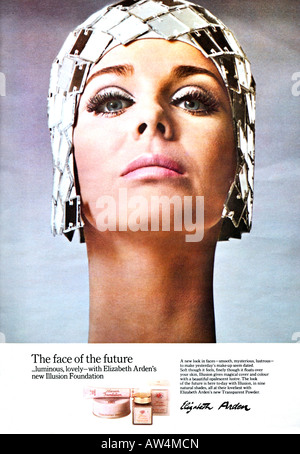 1960s Nova Magazine October 1968 Advertisement for Elizabeth Arden Cosmetics FOR EDITORIAL USE ONLY - Stock Image
